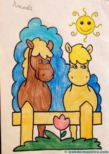 caballos para colorear: Terminacion del trabajo