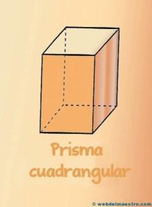 Figuras geometricas tridimmensionales primaria: prisma cuadrangular