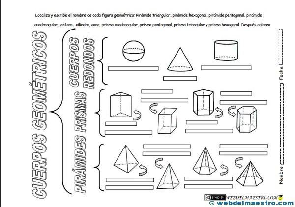 Dibujos En 3d Para Niños Web Del: Figuras Geométricas Tridimensionales Primaria