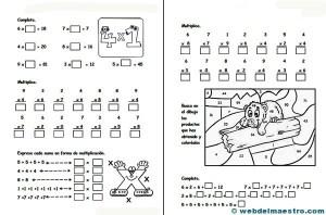 Multiplicaciones para niños - Web del maestro