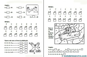 Multiplicaciones Para Primaria Para Imprimir Animales