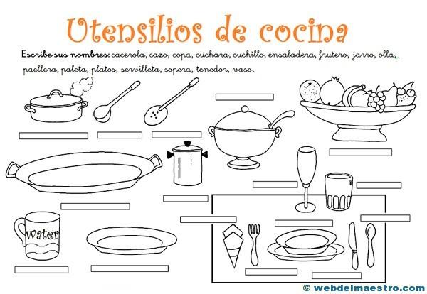 Utensilios De Cocina Actividades Web Del Maestro