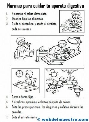 Higiene del aparato digestivo - Web del maestro