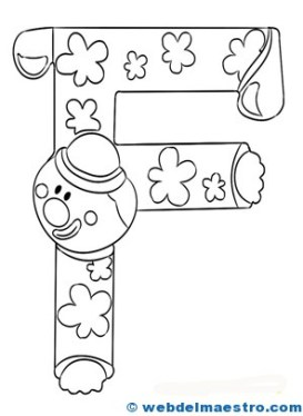 Letras para colorear-F