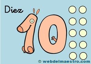 Fichas de números- El 10