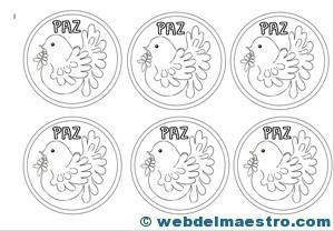 Medallas paloma-paz