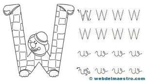 Dibujos para colorear de letras-W