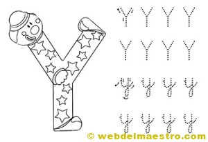 Dibujos para colorear de letras-Y