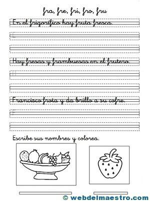 Ejercicios de caligrafía y ortografía