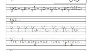ejercicios de caligrafía-y