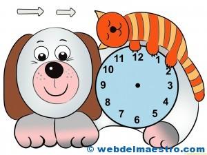 Relojes para aprender la hora-1- color-