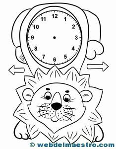 Relojes para aprender la hora  Web del maestro
