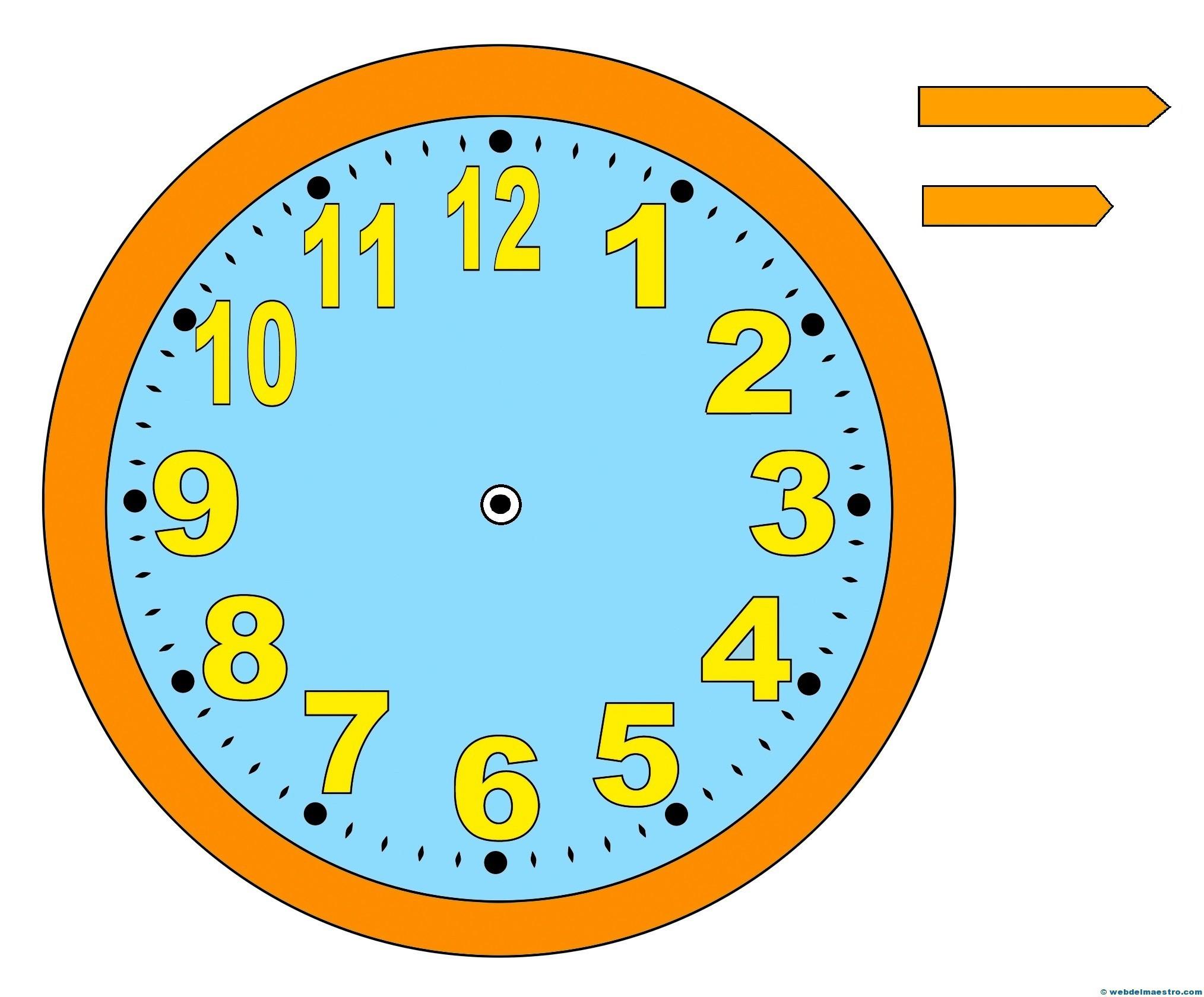 relojes para aprender la hora-6-color - Web del maestro