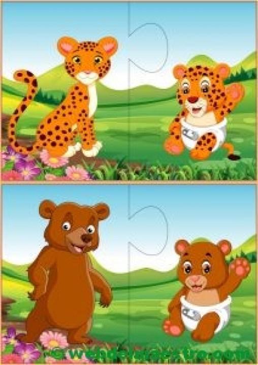 Puzzles infantiles para niños de 2 a 3 años-IV