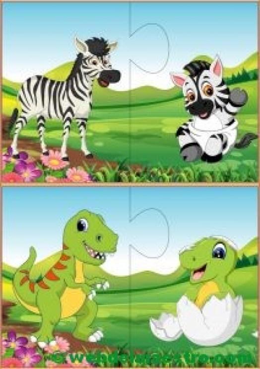 Puzzles infantiles para niños de 2 a 3 años-VI