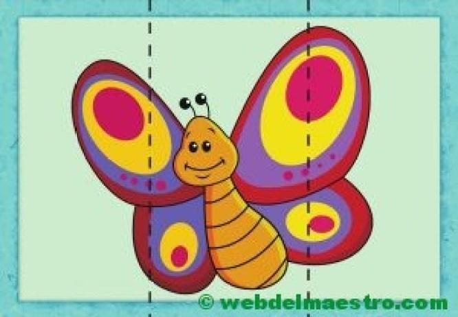 puzzle de mariposa
