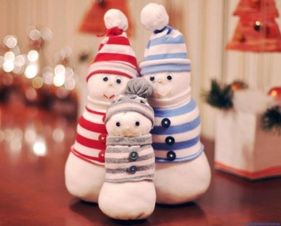 Manualidades de Navidad-Muñeco de nieve-2