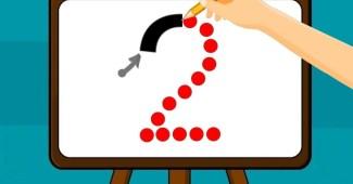 Cómo enseñar el número 2 - Trazo del número 2