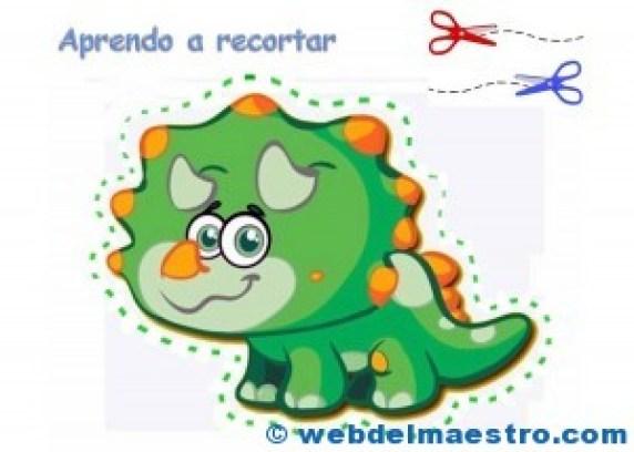 Dinosaurio para recortar