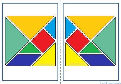 Piezas de tangram para imprimir
