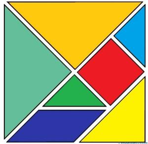 Tangram figuras para imprimir online for Cuadros con formas geometricas