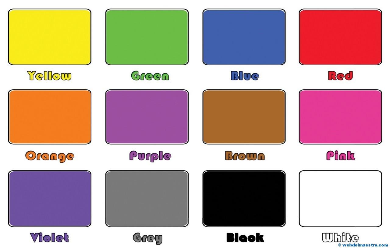 Colors In English  Web Del Maestro