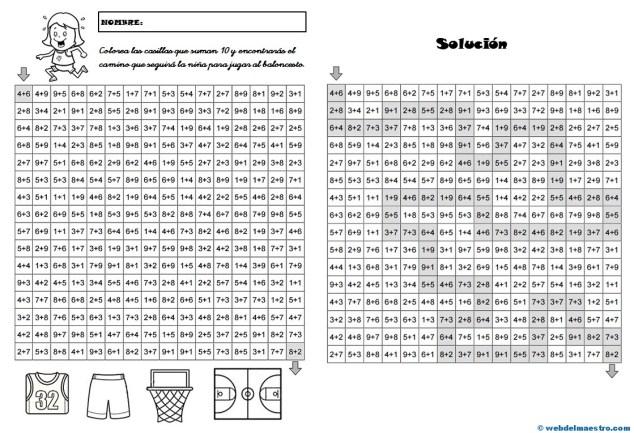 Juegos de Matemáticas-Sigue las sumas-2