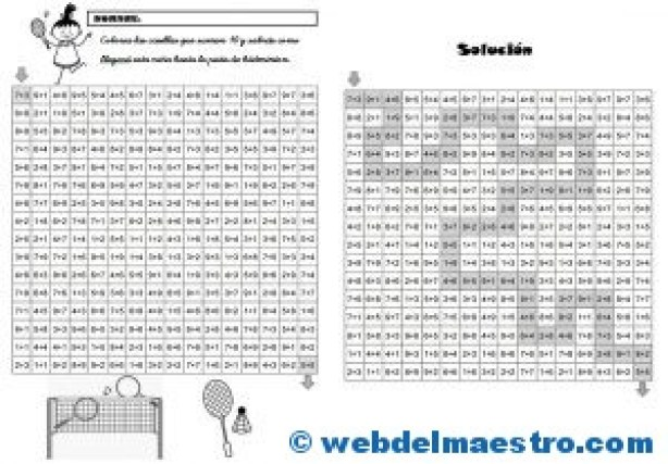 Juegos de Matemáticas-Sigue las sumas-5