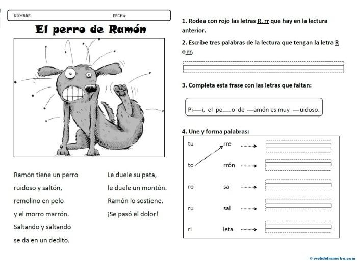 Lectura 5-Letra R rr-Actividades