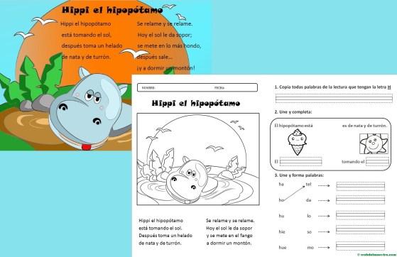 Lectura- Aprender a leer paso a paso- La letra H