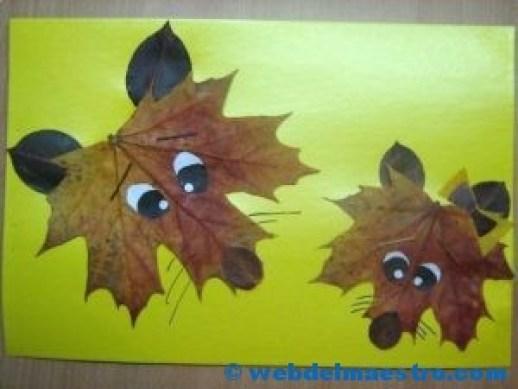 zorros-con-hojas-secas