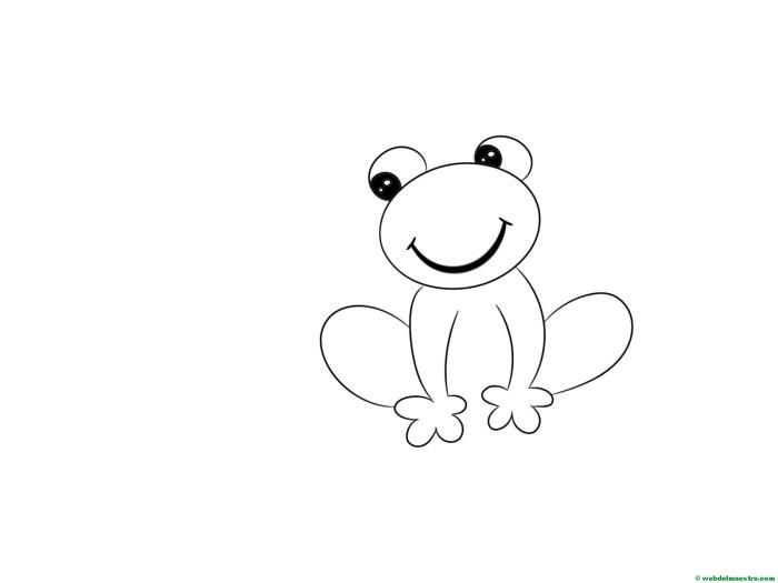 Cómo dibujar una rana paso a paso - Web del maestro