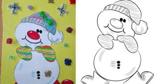 Dibujo de muñeco de nieve y terminación