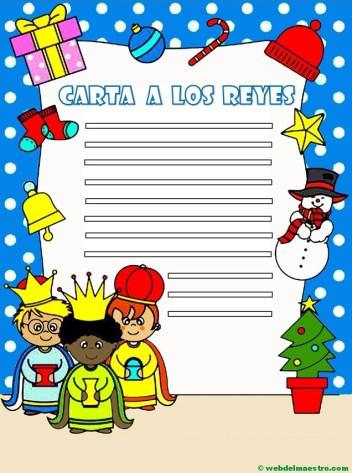 carta para los Reyes magos en color-con pauta