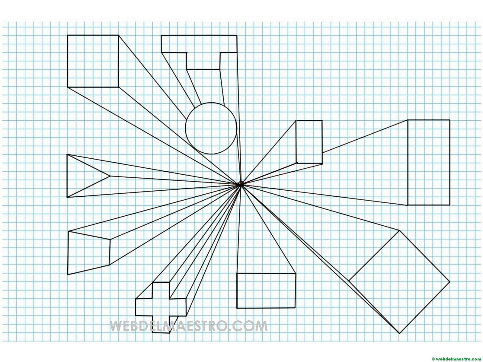 Perspectiva cónica | Dibujos paso a paso - Web del maestro