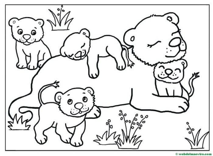 leona y sus cachorros