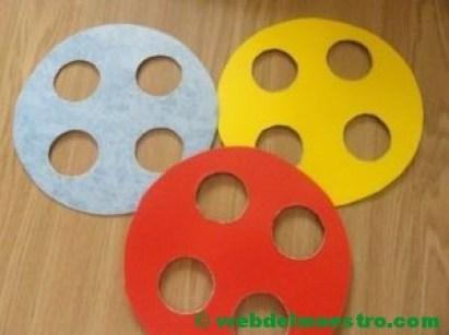 Habilidad de ensartar- discos perforados