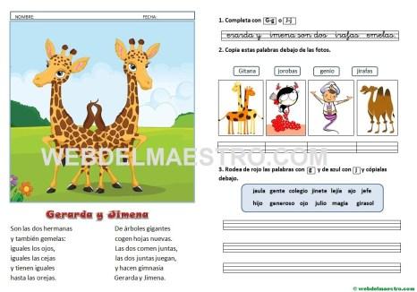 Lecturas infantiles-G-J-con actividades