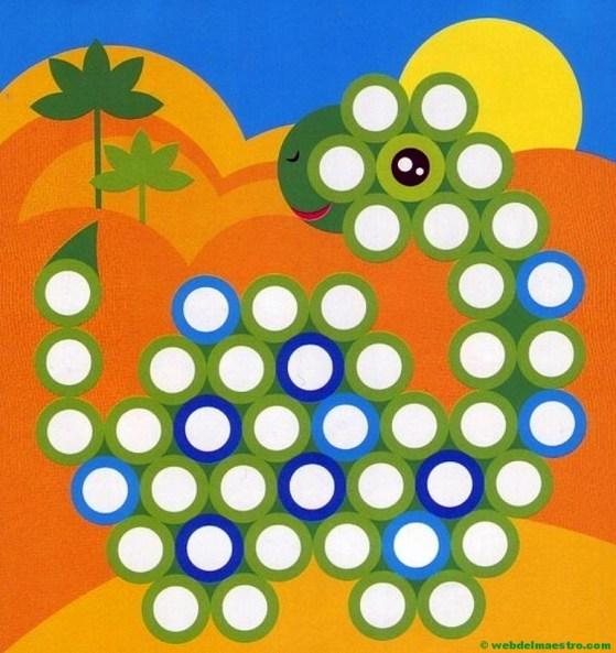 Plantillas para juegos con botones-dragón