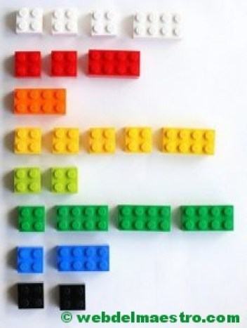 Psicomotricidad fina con piezas lego-