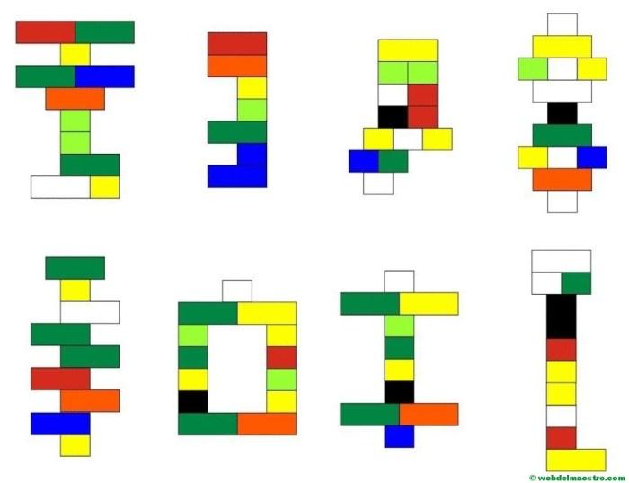 Psicomotricidad fina con piezas lego-esquemas-3
