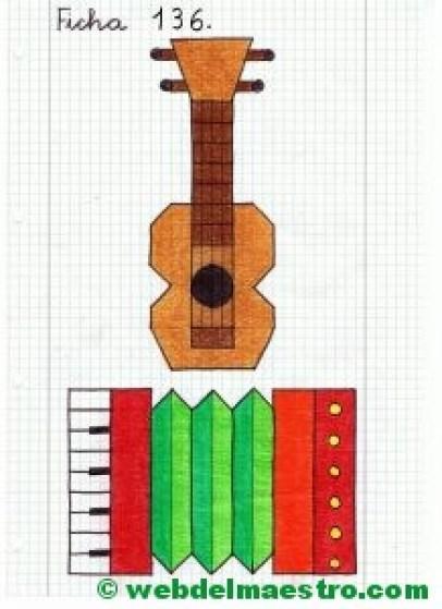 Dibujos en cuadrícula-Música-2