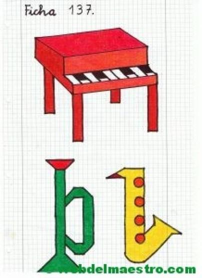 Dibujos en cuadrícula-Música-3