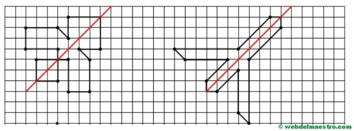 Eje de simetría diagonal