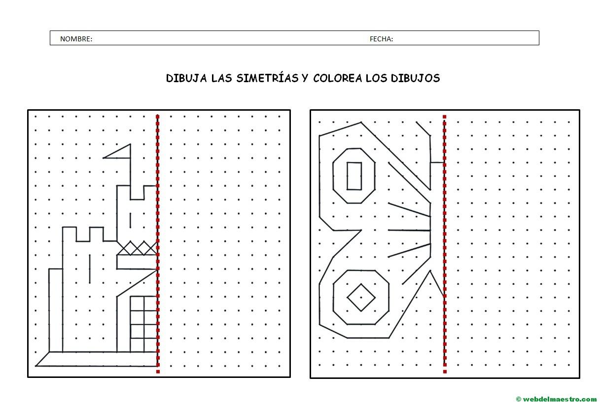 Dibujos En 3d Para Niños Web Del: Figuras Simetricas-Actividades-3