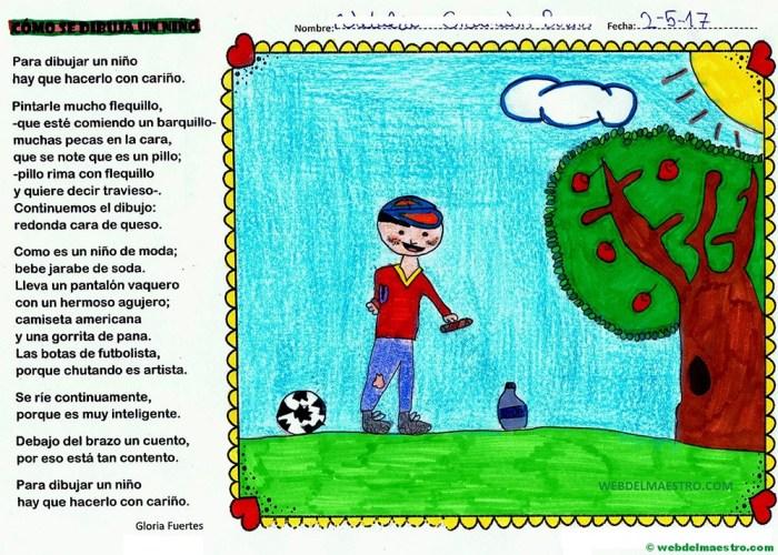 cómo se dibuja un niño-Gloria Fuertes-