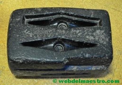 molde de arena para la fundición de ejes-edad de bronce.
