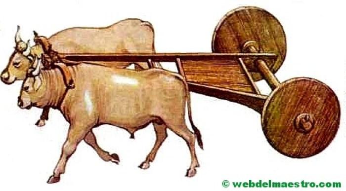 transporte con ruedas-edad de los metales