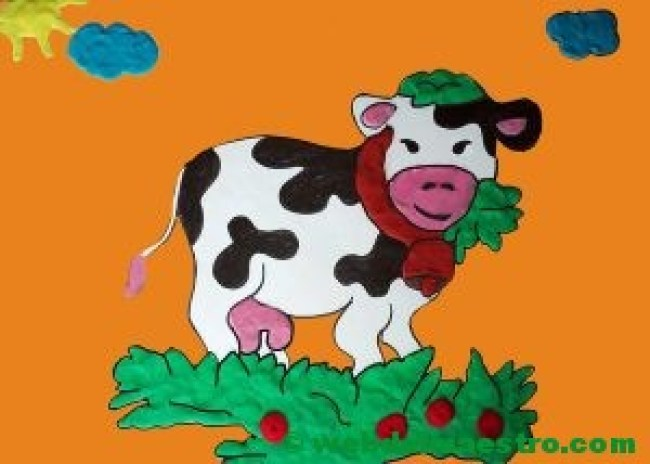 manualidades de vaca con plastilina