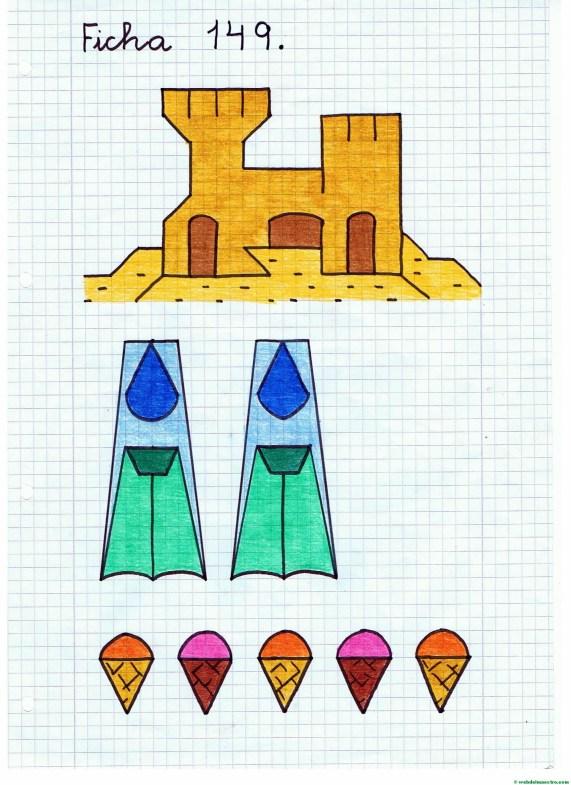Dibujos sobre la playa- Ficha 3